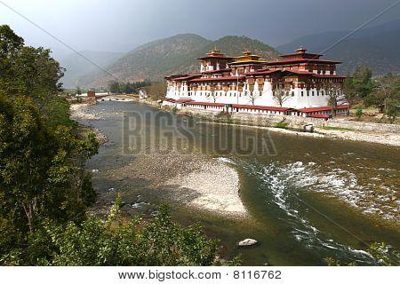 Monastery in Punakha, Bhutan