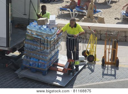 Water by the truck load Majorca