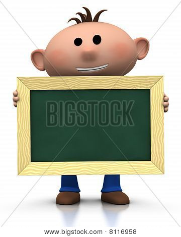 Boy With Chalkboard