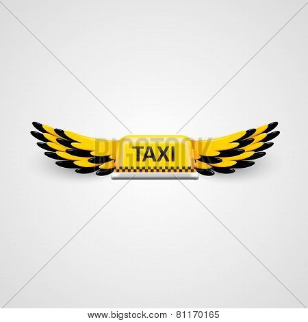 Taxi business logo. flying taxi concept.