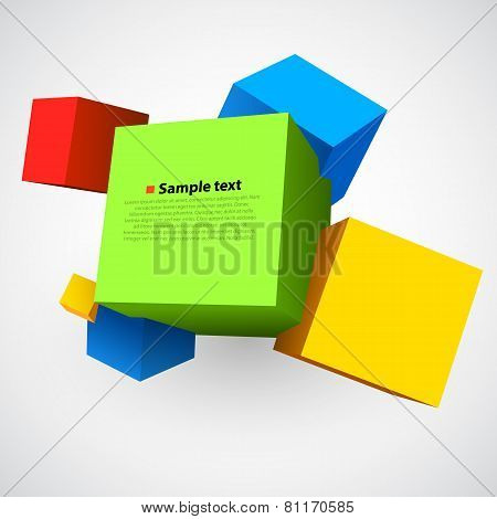 Colorful three dimensions cubes.