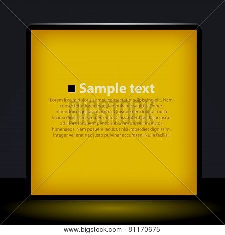 Yellow light box illustration.