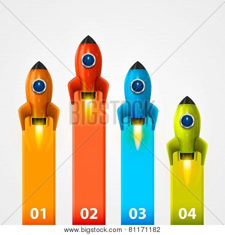 Space rocket launch info