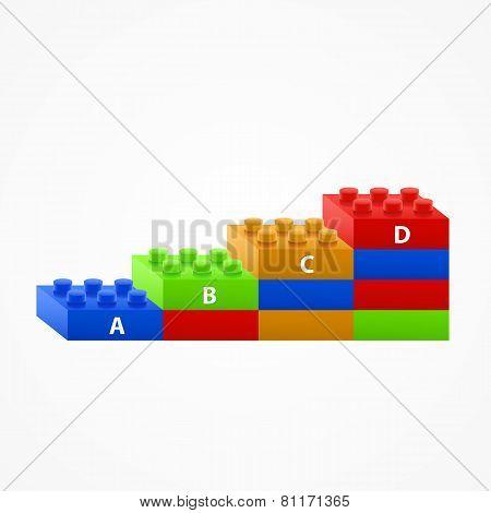 Plastic building Blocks stairs.