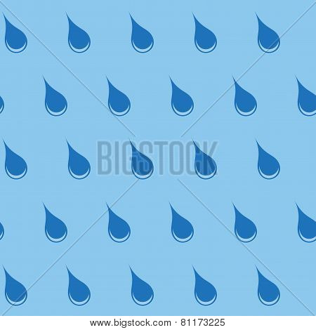 Seamless pattern with water drops