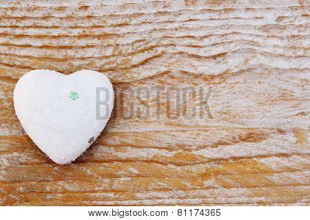 Valentines Day - Heart On Wooden Background Love Symbol