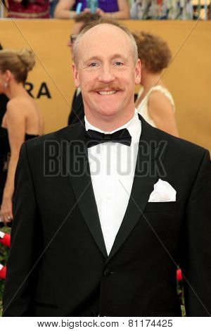 LOS ANGELES - JAN 25:  Matt Walsh at the 2015 Screen Actor Guild Awards at the Shrine Auditorium on January 25, 2015 in Los Angeles, CA