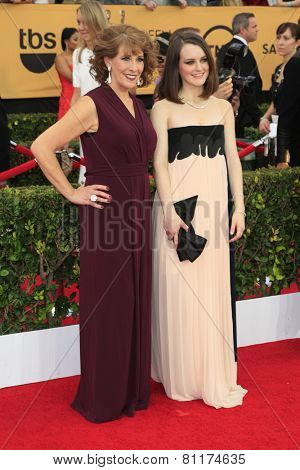 LOS ANGELES - JAN 25:  Phyllis Logan, Sophie McShera at the 2015 Screen Actor Guild Awards at the Shrine Auditorium on January 25, 2015 in Los Angeles, CA