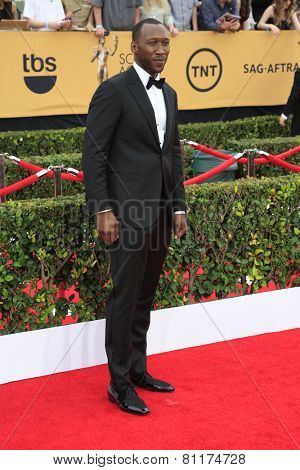 LOS ANGELES - JAN 25:  Mahershala Ali at the 2015 Screen Actor Guild Awards at the Shrine Auditorium on January 25, 2015 in Los Angeles, CA