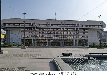 New contemporary administration building in center of Ruse town, Bulgaria