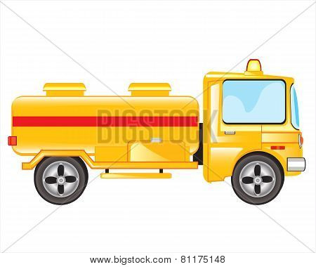 Yellow Tanker Truck