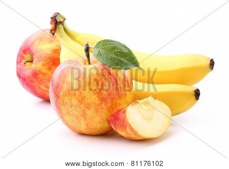 Apple with banana