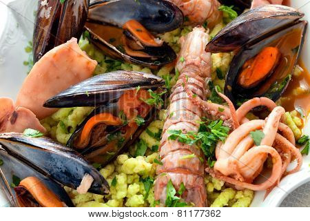 Seafood And Passatelli