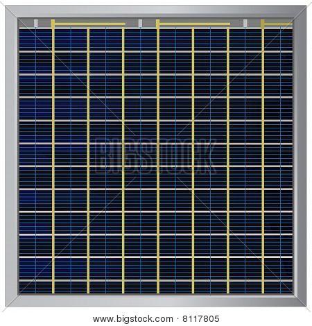 Solar Battery Illustration