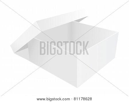 empty paper box vector illustration