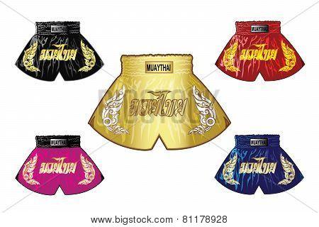 thai boxing shorts set