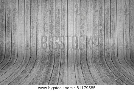 Wood Background With Curvy Planks