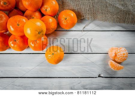 Clementines On A Table