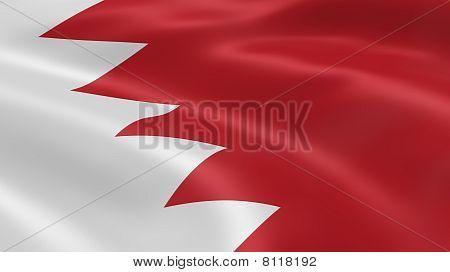 Bahraini Flag In The Wind
