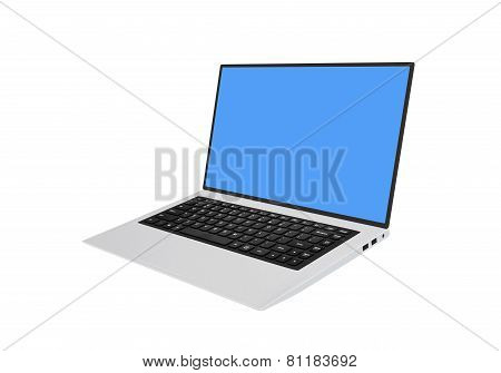 Modern Laptop Eith Black Chiclet-style Keyboard