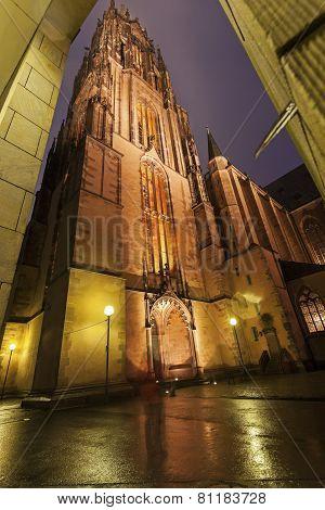 Rainy Evening By Frankfurt Cathedral