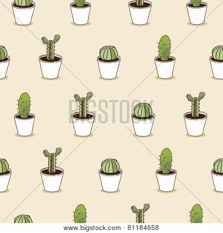 I love cacti  illustration. Cactus  background