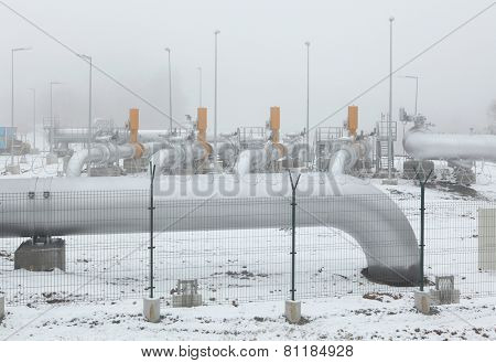 Border delivery station at the natural gas pipeline near Rozvadov, Czech Republic.