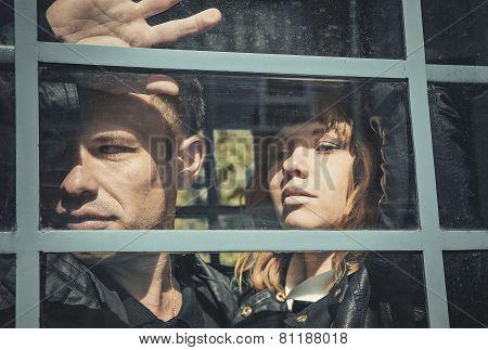 Young Sad Couple After A Quarrel