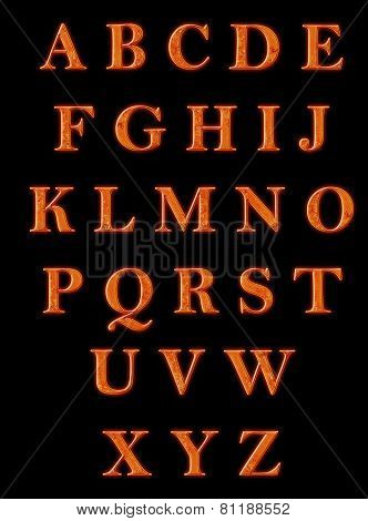 Hot metal alphabet