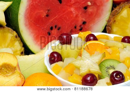 fresh various fruits close-up