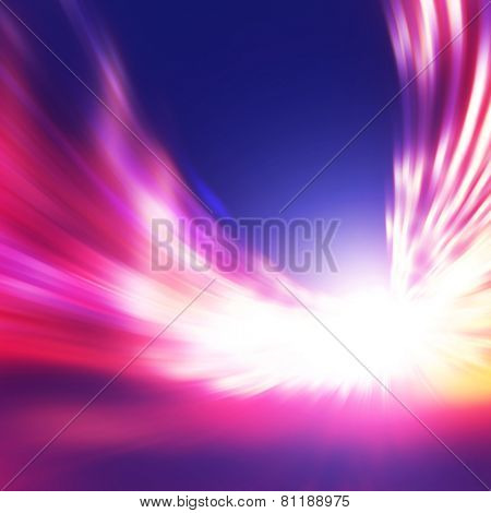 Abstract image of speed motion at night time.