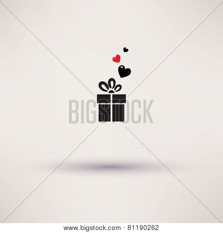 Pictograph of gift Vector icon Template design.