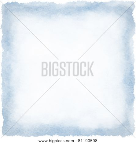 Blue watercolour frame background