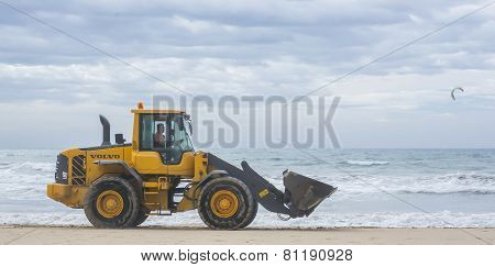 Yellow Power Shovel Playa De Palma