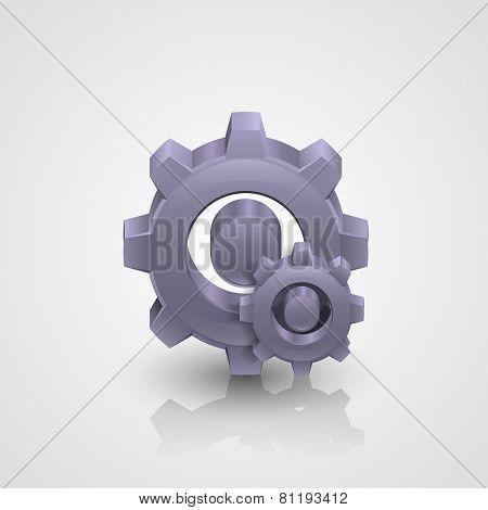 Cogwheel. Vector