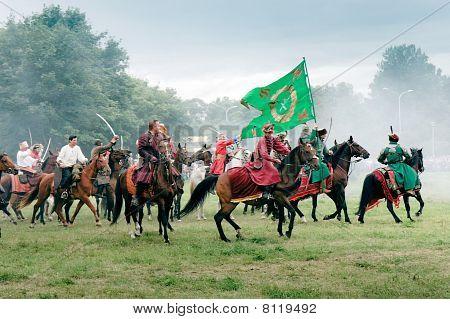 Battle Of Klushino 1610 reenactment - Polish  Hussars