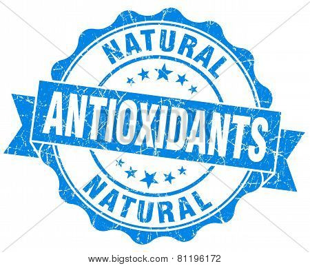 Antioxidants Blue Vintage Isolated Seal