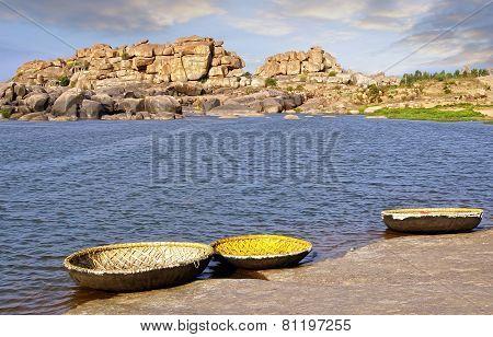 Picturesque Nature Landscape. Hampi, India