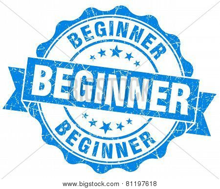 Beginner Blue Vintage Isolated Seal