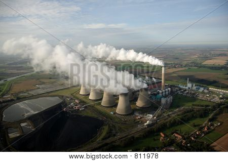Aerial of cooling Towers