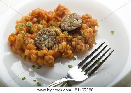 Pork Sausages With Baked Beans