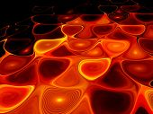 pic of magma  - Glowing orange lava in hell computer generated abstract background - JPG