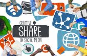 picture of social-security  - Share Sharing Social Media Networking Online Download Concept - JPG