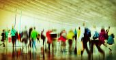 stock photo of commutator  - Casual People Rush Hour Walking Commuting City Concept - JPG
