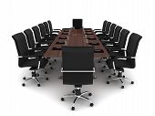 picture of convocation  - Modern conference room on white background  - JPG