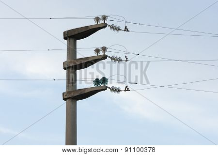 Electrical Wire On Pole