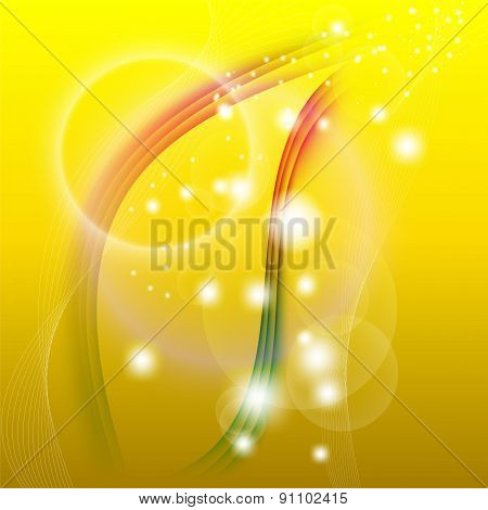 Yellow line wave background vector