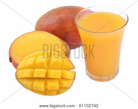 Mango And A Glass Of Mango Juice
