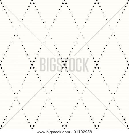 rhombic pattern of small black dots