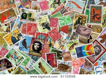Cuba postage stamp collection